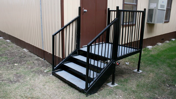 Modular Stairs with Landing