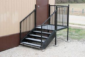 modular stairs with deck